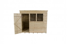 Overlap Pressure Treated Pent Shed 1829mm X 2438mm