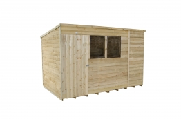 Overlap Pressure Treated Pent Shed 3048mm X 1829mm