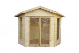 Honeybourne Summerhouse - 8 X 8 Shiplap Corner Pressure Treated