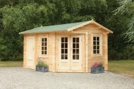 Ripon Log Cabin Natural Timber 4000mm X 2800mm