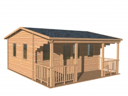 Harlech Log Cabin Natural Timber 5000mm X 4000mm