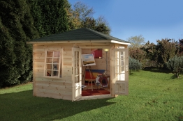 Wenlock Log Cabin Natural Timber 3000mm X 3000m X 28mm