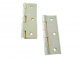 4trade Butt Hinge Chrome Plated Fixed Pin Pair 75mm