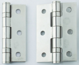 4trade Hinge 2 Ball Bearing Polished Stainless Steel Grade 13 100mm X 75mm X 3mm Pk Of 3