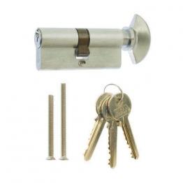 4trade Cylinder & Thumb Turn Euro Profile Satin 35mm X 35mm