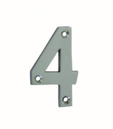 4trade Numeral 4 Face Fix Chrome Plated 75mm