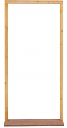 External Softwood Door Frame To Suit 2'6x6'6 Door. With Hardwood Sill, Inward Opening. (fn26m)