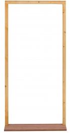 External Softwood Door Frame To Suit 2'8x6'6 Door. With Hardwood Sill, Inward Opening. (fn28m)