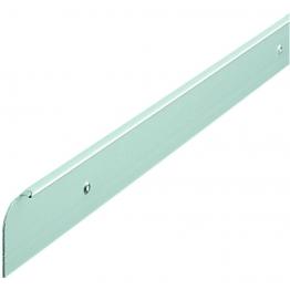 Silver Worktop Aluminium End Trim 630mm E30slp