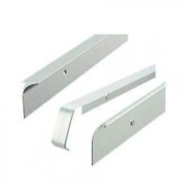 Unika 40mm Silver Worktop Aluminium Butt Joint 630mm/6mm Radius T40slp5mm