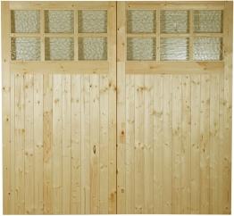 External Garage Pine Glazed Door 2133mm X 981mm X 44mm
