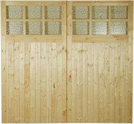 External Garage Pine Glazed 2133mm S 2133mm X 44mm