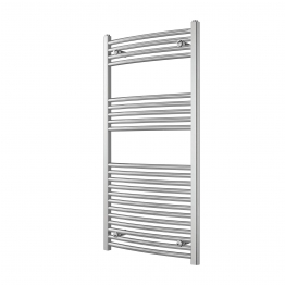 Iflo Curved Towel Rail Chrome 1200 X 600 Mm 25mm