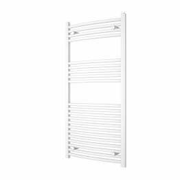 Iflo 25mm Curved Towel Rail White 750mm X 600mm