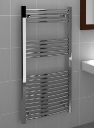 Standard 22mm Towel Rail Curved Chrome 1200mm X 600mm