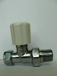 Iflo Straight Wheelhead/lockshield Chrome Radiator Valve 15mm