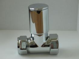 Iflo Column Straight Radiator Valve (pair) 15mm