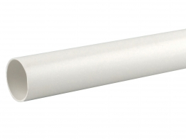 Osmaweld Waste White Plain Ended Pipe 3m 40mm