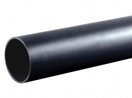 Osma 40mm Pushfit Waste Black Plain Ended Pipe 3m