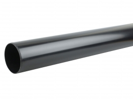 Osmasoil System Black Plain Ended Pipe 3m 110mm