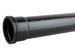Osmasoil System Black Single Socket Pipe 3m 4s043 110mm