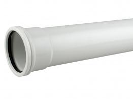 Osmasoil System White Single Socket Pipe 3m 110mm