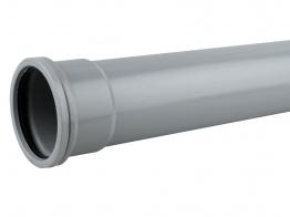 Osmasoil System Grey Single Socket Pipe 2m 4s042 110mm