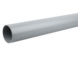 Osmasoil System Grey Plain Ended Pipe 3m 4s073 110mm