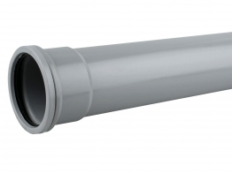 Osmasoil System Grey Single Socket Pipe 3m 4s043 110mm