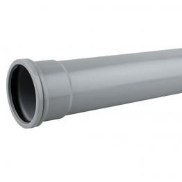 Osmasoil System Grey Single Socket Pipe 3m 6s043 110mm
