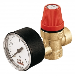 Altecnic 313430 Female X Female Thread 3 Bar Safety Relief Valve Complet With Gauge 1/2in