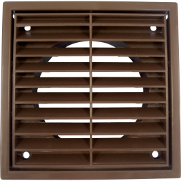 Iflo R1152b Louvered Grille Fixed Brown 100mm