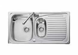 Leisure Euroline El9502/tcad2 1.5 Bowl Stainless Steel Sink & Tad2 Tap