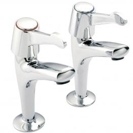 Pegler Mercia High Neck Sink Taps Quarter Turn Ceramic Disc Lever Pair