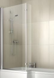 Iflo Metz L Shaped Shower Bath Screen 1500mm X 810mm