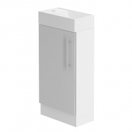 Form 400 Floorstanding Hand Basin Unit/w H Gloss Cool Grey