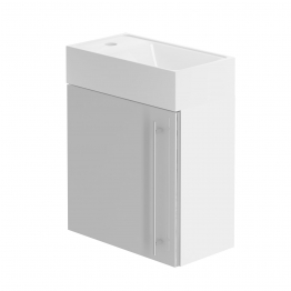 Form 400 Hand Basin Unit/w H Gloss Cool Grey