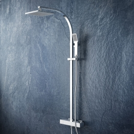 Iflo Architect + Fixed Drench Shower Head Thermostatic Bar Mixer Shower