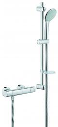 Grohe 1000 Cosmopolitan Thermostatic Shower + Euphoria Shower Set Chrome