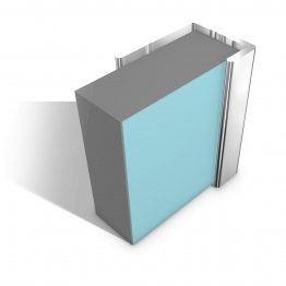 Multipanel Classic Type C L Shaped End Cap Profile Bright Polished 2450mm