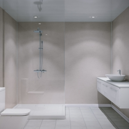 Grant Westfield Multipanel Shower Panel Unlipped Travertine 2400mm X 1200mm