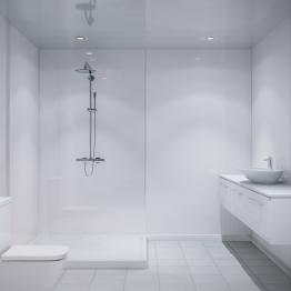 Multipanel Tile White 5101 Embossed Small Gloss Tile 2400mm X 1220mm