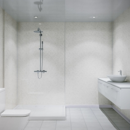 Grant Westfield Multipanel Shower Panel H-lock Blizzard 2400mm X 1200mm
