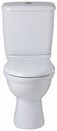 Ideal Alto Close Coupled Cistern With Chrome Plated Push Button White E751401