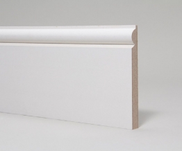 Mdf Moulded & Primed Torus Skirting 18mm X 169mm X 4.4m