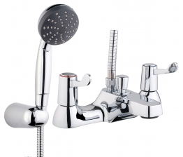 Iflo Lever Deck Mounted Bath Shower Mixer Tap Brass