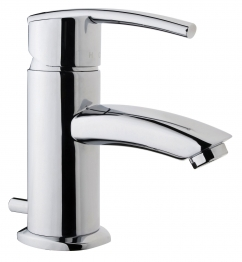 Iflo Garda Monobloc Basin Mixer Tap Brass With Pop Up Waste