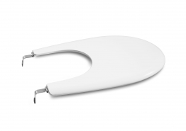 Roca A806390004 Laura New Style Bidet Cover White & Chrome Hinges
