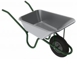 4trade 120l Galvanised Contractors Wheelbarrow