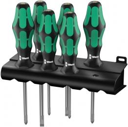 Wera Lasertip Screwdriver Set 6pc Sl/pz/ph